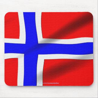 Tapis De Souris Le drapeau du monde patriotique de la Norvège