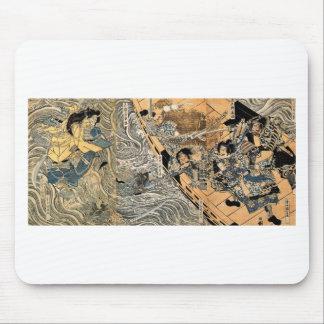 Tapis De Souris Le fantôme de Taira Tomomori par Utagawa Kuniyoshi