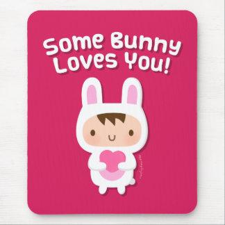 Tapis De Souris Le lapin mignon vous aime confession d'amour