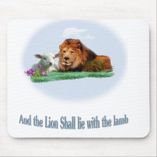 Tapis De Souris Le lion et l'art d'agneau