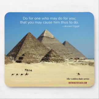 Tapis De Souris L'Egypte antique : Série de règle d'or