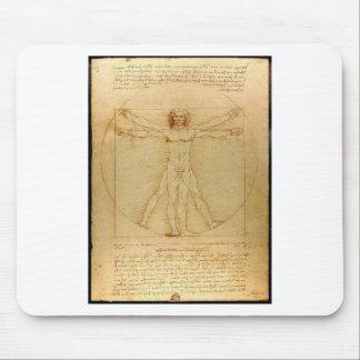Tapis De Souris Leonardo da Vinci - peinture d'homme de Vitruvian