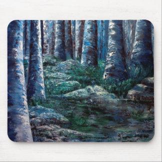 Tapis De Souris Les branches d'arbre ont peint la forêt Mousepad