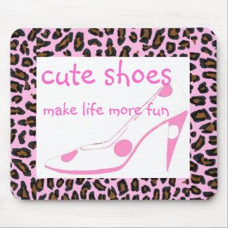 Tapis De Souris Les chaussures mignonnes font des talons de rose