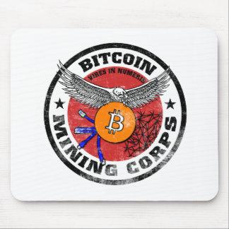 Tapis De Souris Les corps d'exploitation de Bitcoin - version