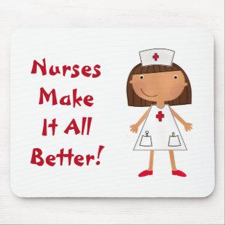 Tapis De Souris Les infirmières le font tout mieux