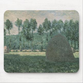 Tapis De Souris Les meules de foin de Claude Monet   s'approchent