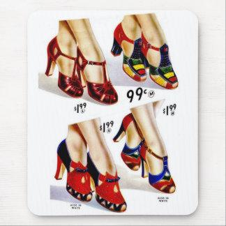 Tapis De Souris Les rétros chaussures vintages des femmes de la