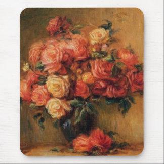 Tapis De Souris Les roses de Renoir dans de vase toujours une vie
