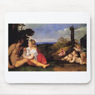 Tapis De Souris Les trois âges de l'homme par Titian