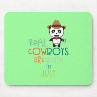Tapis De Souris Les vrais cowboys sont en juillet Zf3vh nés