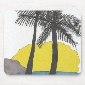 Tapis De Souris Lever de soleil de palmier