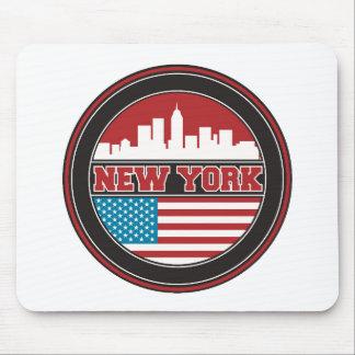 Tapis De Souris L'horizon   Etats-Unis de New York diminuent