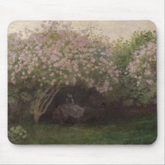 Tapis De Souris Lilas de Claude Monet  , temps gris, 1872