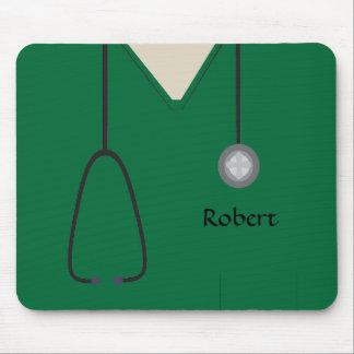 Tapis De Souris L'infirmière médicale frotte Mousepad vert