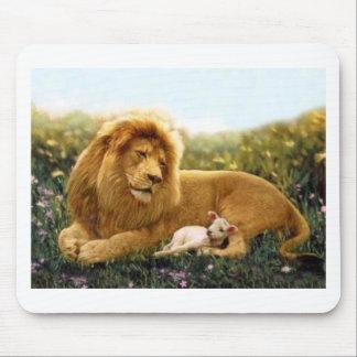 Tapis De Souris Lion et agneau