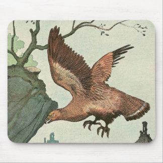 Tapis De Souris Livre d'histoire d'Eagle d'or illustré