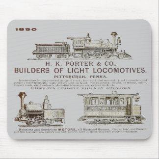 Tapis De Souris Locomotives 1890 de chemin de fer de H K Porter &