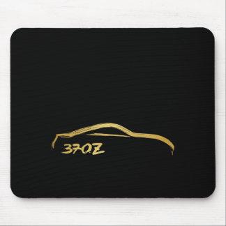 Tapis De Souris Logo de course de brosse d'or de Fairlady 370z