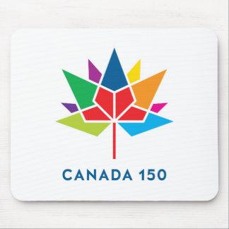 Tapis De Souris Logo de fonctionnaire du Canada 150 - multicolore