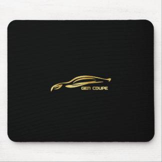 Tapis De Souris Logo de silhouette d'or de coupé de GEN