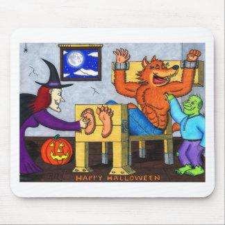 Tapis De Souris Loup-garou chatouilleux de Halloween