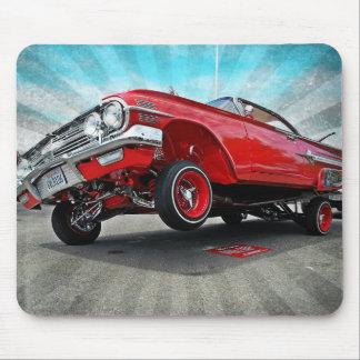 Tapis De Souris Lowrider 1960 d'impala de Chevy de rouge Mousepad
