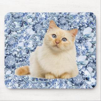 Tapis De Souris Lucy (le chat) dans le ciel avec des diamants