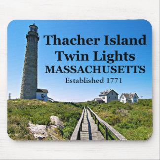 Tapis De Souris Lumières de jumeau d'île de Thacher, le