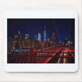 Tapis De Souris Lumières de nuit de New York City de pont de