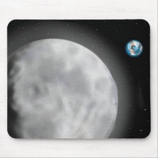 Tapis De Souris Lune et terre Mousepad