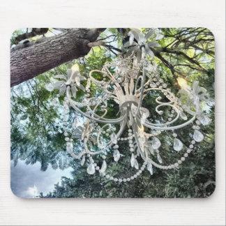 Tapis De Souris Lustre en cristal blanc chic minable