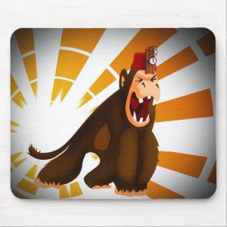 Tapis De Souris M. Jingles l'assassin de singe
