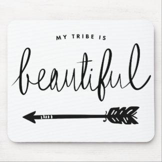 Tapis De Souris Ma tribu est bel Main-En lettres élégant