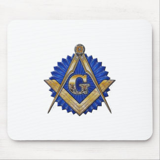 Tapis De Souris Maçon bleu de loge
