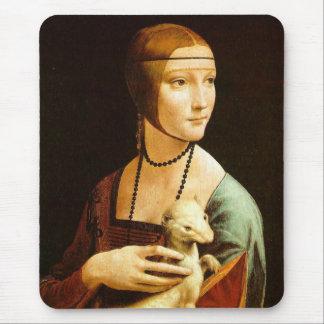 Tapis De Souris Madame avec une hermine, Leonardo da Vinci