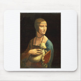 Tapis De Souris Madame de la peinture de Da Vinci original avec