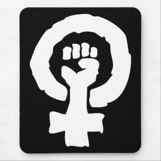 Tapis De Souris Main femelle universelle de solidarité de symbole