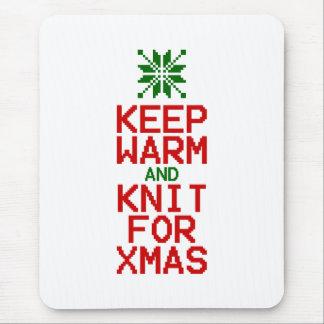 Tapis De Souris Maintenez chaud et Knit pour Noël