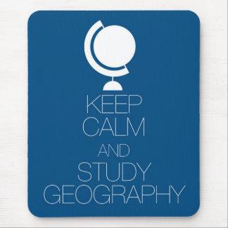 Tapis De Souris Maintenez géographie calme et d'étude