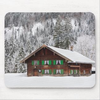 Tapis De Souris Maison en bois traditionnelle dans le mousepad de