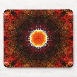 Tapis De Souris Mandala brûlant de nature