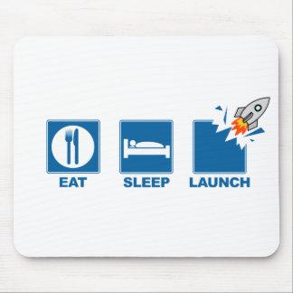 Tapis De Souris Mangez le lancement de sommeil
