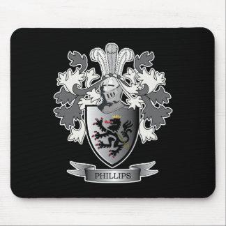 Tapis De Souris Manteau de crête de famille de Phillips des bras