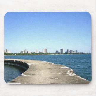 Tapis De Souris Marchez pour voir l'horizon de Chicago