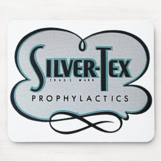 Tapis De Souris Marque prophylactique d'Argent-Tex de préservatif