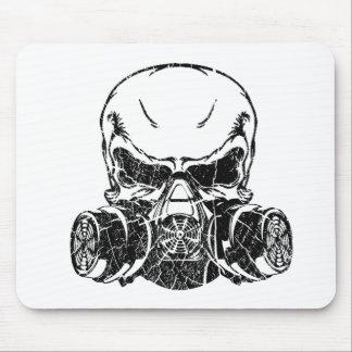 Tapis De Souris Masque de gaz de port de crâne