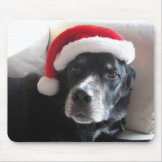 Tapis De Souris Mélange de rottweiler de Père Noël Chien-Labrador