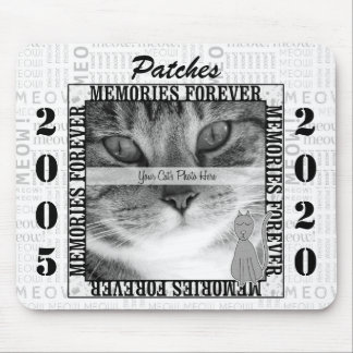 Tapis De Souris Mémorial vertical d'animal familier de chat