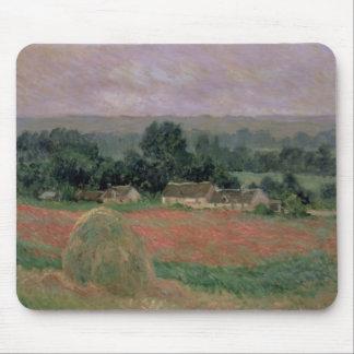 Tapis De Souris Meule de foin de Claude Monet   chez Giverny, 1886